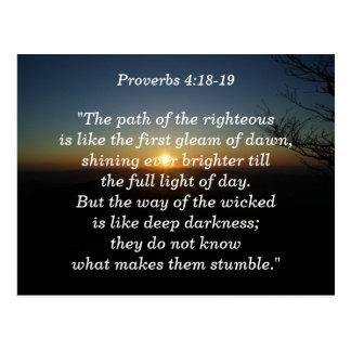4:18 de los proverbios - tarjeta de memoria de 19