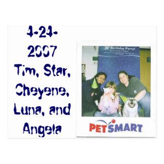 4-24-2007 Tim, estrella, Cheyene, Luna, y Angela Postal