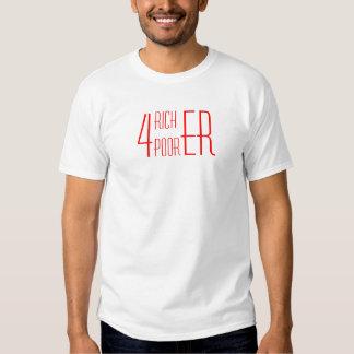 4 4 más ricos más pobres camiseta