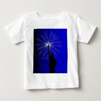 4 de julio camiseta de bebé