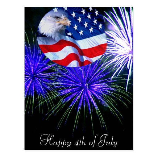 4 de julio Celebration_ Tarjeta Postal