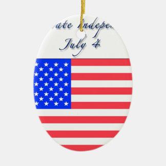 4 de julio Día de la Independencia Ornamento Para Reyes Magos