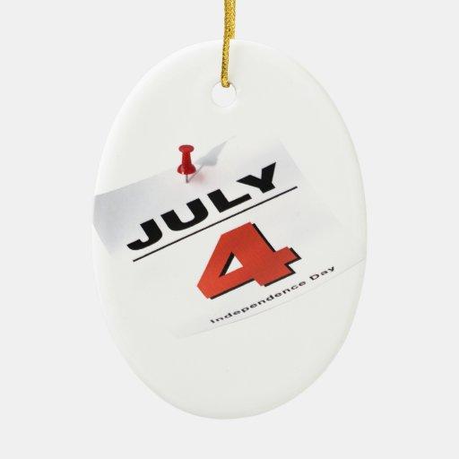 4 de julio Día de la Independencia Ornamentos De Reyes Magos