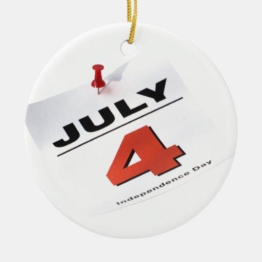 4 de julio Día de la Independencia Ornamento De Reyes Magos