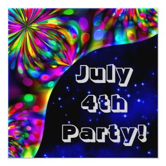 ¡4 de julio fiesta! Invitación