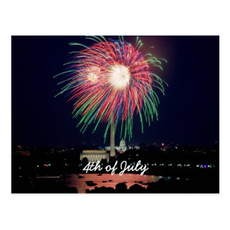 4 de julio fuegos artificiales, Washington DC Postal