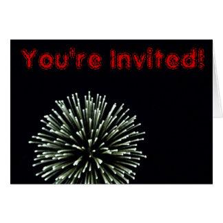 4 de julio invitación tarjeta de felicitación