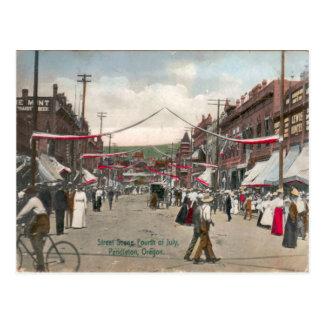4 de julio Pendleton Oregon 1908 Postal