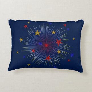 4 de julio Starburst, almohada al aire libre del