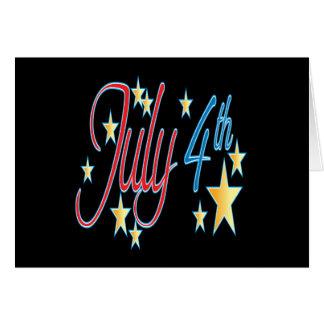 4 de julio tarjetas
