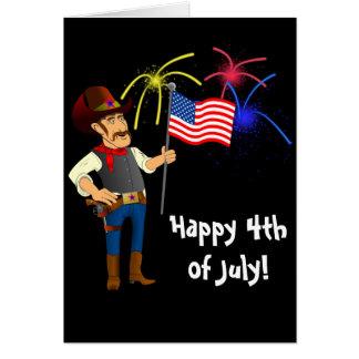 4 de julio tarjeta de felicitación