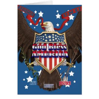 4 de julio tarjeta del Día de la Independencia