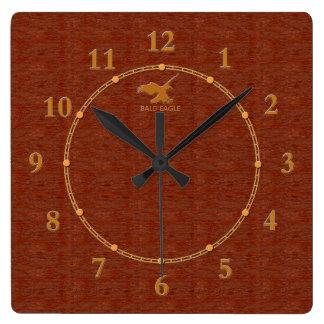 4 decorativos de madera rojos una venta moderna reloj cuadrado