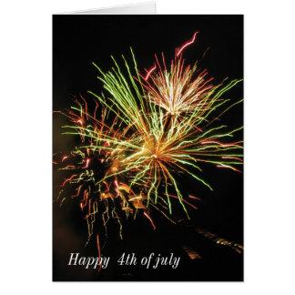 4 del 3 de julio, feliz el 4 de julio tarjeta de felicitación