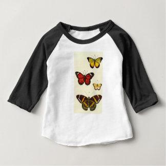 4 mariposas camiseta de bebé
