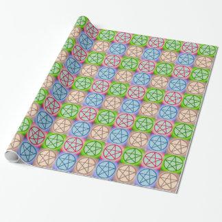 4 pentagrams papel de regalo
