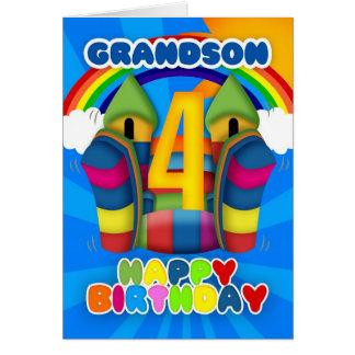 4ta tarjeta de cumpleaños del nieto con el