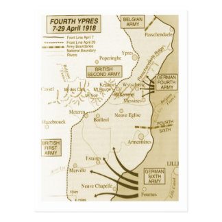 4to Batalla de Ypres, 1918 Postal