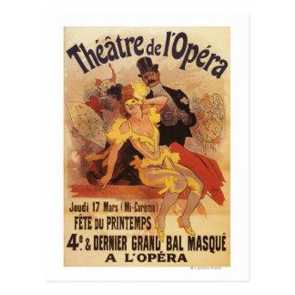 4to Bola enmascarada en el teatro de l'Opera Postal