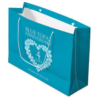 4to bolso personalizado del regalo de la foto del bolsa de regalo grande
