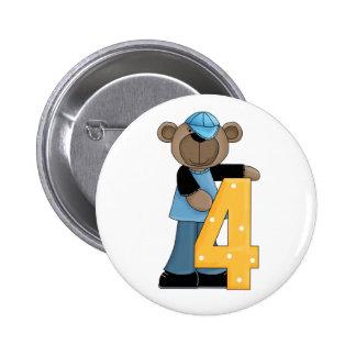 4to. Botón del Pin de la diversión del oso del cum
