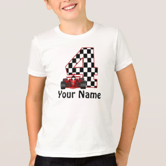 4to Camiseta del coche de carreras de los