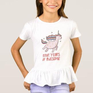 4to Camiseta del regalo de cumpleaños cuatro años
