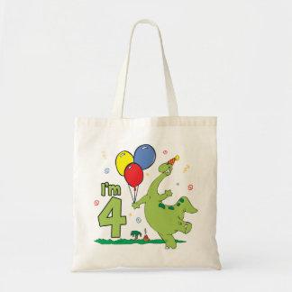4to cumpleaños de Dino Bolsa Tela Barata