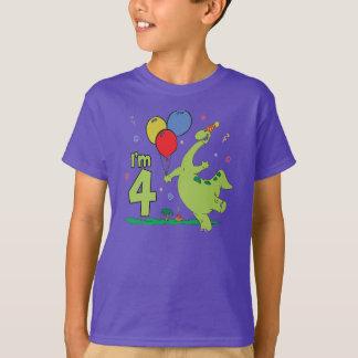4to cumpleaños de Dino Camiseta