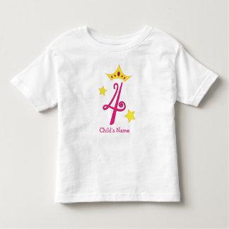 ¡4to cumpleaños feliz, princesa! camiseta de bebé