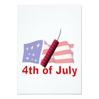 4to De julio Invitaciones Personalizada