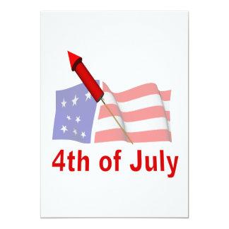 4to De julio Invitación Personalizada