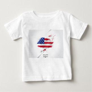 4to de la camisa del bebé de julio