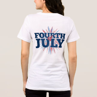 4to de la camiseta de las mujeres de julio