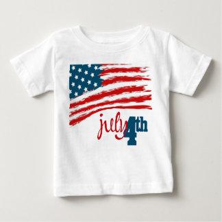 4to de la camiseta del niño de julio