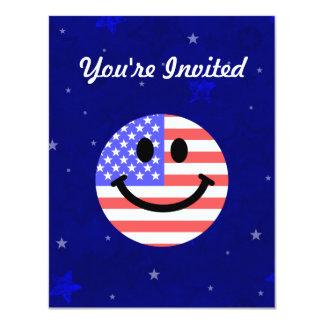 4to de la cara del smiley de la bandera americana anuncios personalizados