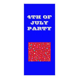4to de la invitación de July Party