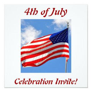 4to de la invitación del fiesta de julio