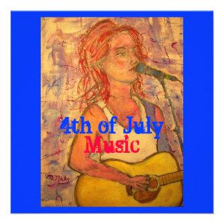 4to de la música de julio comunicado personalizado