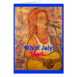 4to de la música de julio (tiempo de los fuegos tarjeta de felicitación