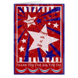 4to de la tarjeta de julio para nuestras tropas