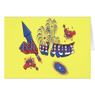 4to de las celebraciones de julio tarjeta de felicitación