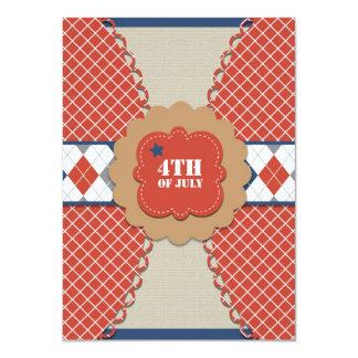 4to de las invitaciones de julio invitación 11,4 x 15,8 cm