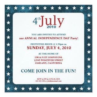 4to de las invitaciones del fiesta del Día de la Invitación 13,3 Cm X 13,3cm