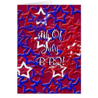4to ¡Del Bbq de julio! Tarjeta De Felicitación