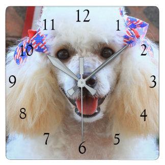 4to del reloj del cuadrado del caniche de juguete