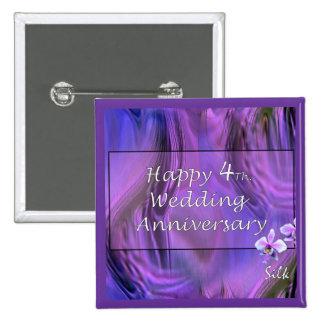 4to feliz Aniversario de boda Pins