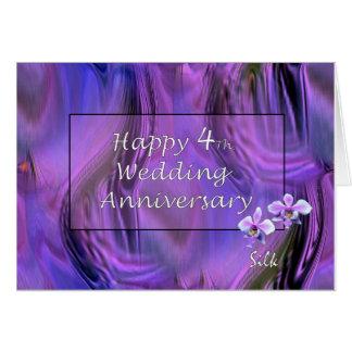 4to feliz. Aniversario de boda Tarjeta De Felicitación