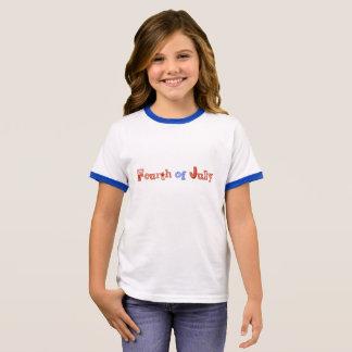 4to feliz de la camisa de los chicas de julio