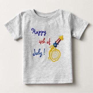 4to feliz de la camisa del bebé de julio